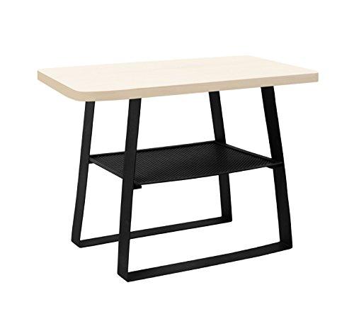 Tosel Astryd ASTRID salontafel, vierkant, hout, zwart, 39 x 39 x 49 cm