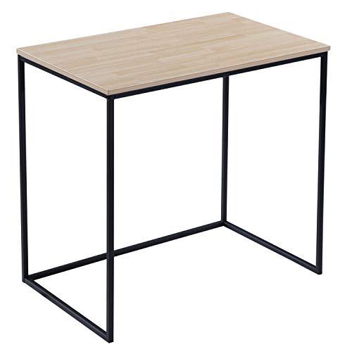 Adec - MIA, Mesa de Estudio, Escritorio o Despacho, Mesa de Oficina, Acabado en Roble Salvaje y Negro, Medidas: 80 cm (Largo) x 50 cm (Ancho) x 75 cm (Alto)