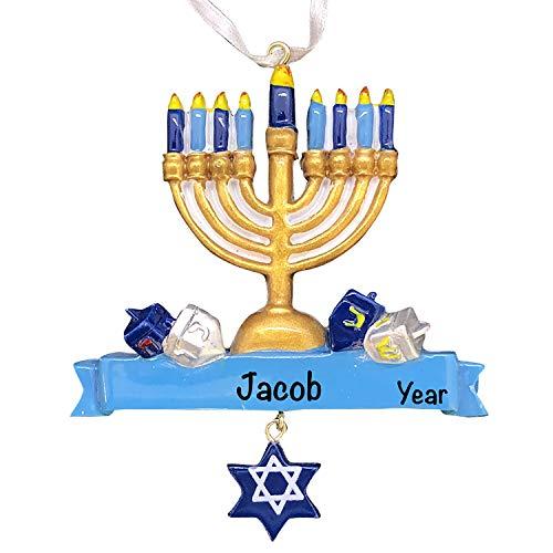 Jewish Christmas Ornaments 2021 - Polyresin Hanukkah Dangle Star Ornament - Unique Religious Ornaments - Star of David Ornament - Hanukkah Ornaments for Tree - Hanukkah Gift, Hanukkah Decorations