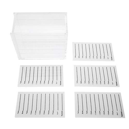 Boîte de rangement de cils en plastique 5 couches, boîte de rangement de cils transparente et durable, organisateur de maquillage, greffe de cils, support de palette de colle