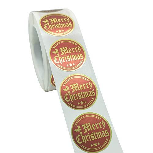 GJKK - Adesivi natalizi per finestra, motivo natalizio, autoadesivi, decorazione invernale per la notte di vino, decorazione natalizia A10 Etichettalia Unica