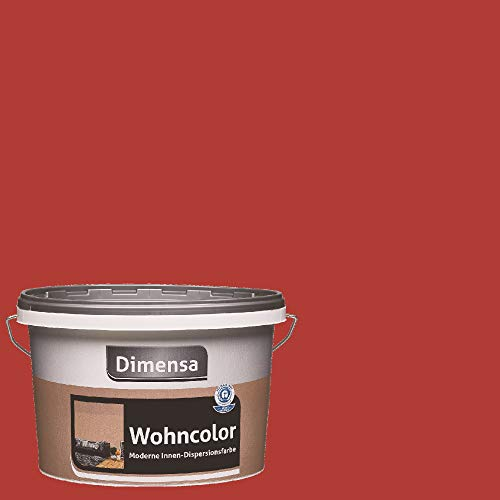 Wohncolor bunte Wandfarbe dunkel-rot 2,5 Liter