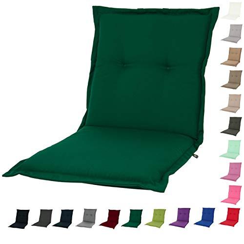 KOPU® Niedriglehner Auflage Prisma Forest Green | Auflagen für Gartenstühle | Grün Garten Kissen 100 x 50 cm | 19 Einfache Farben | Robuster Schaumstoff für zusätzlichen Komfort