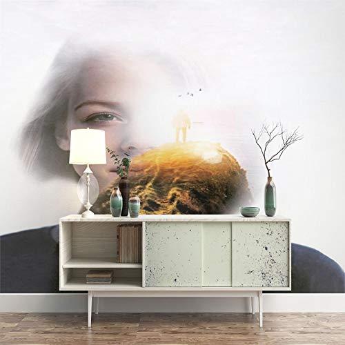 RCIFGU Fototapeten Verträumte Schönheit 3d stereo wohnzimmer sofa TV hintergrund wand papier schlafzimmer vlies tapete selbstklebend große wandbilder 400x280cm