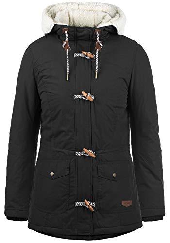 DESIRES Conchita Damen Winter Jacke Parka Winterjacke gefüttert mit Teddyfutter und Kapuze, Größe:L, Farbe:Black (9000)