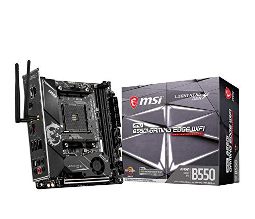 MSI MPG B550i Gaming Edge WiFi AMD AM4 DDR4 M.2 USB 3.2 Gen 2 WLAN 6 HDMI Mini-ITX Gaming Motherboard AMD Ryzen™ 5000 Prozessoren
