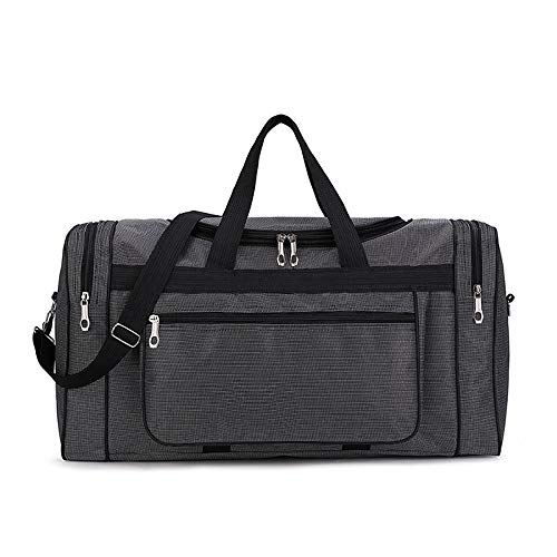 XTLXA Sport Gym Bag Personality Gym Duffle Bag Waterproof Travel Weekender Bag For Men Women Duffel Bag Backpack Overnight Bag (Color : Gray, Size : 60x24x31cm)