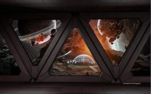 Estilo industrial nave espacial fresca misteriosa ventana ba