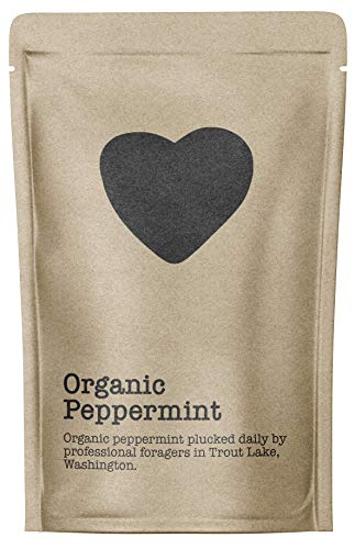 Organic Peppermint, 15-20 Servings, Eco-Conscious Zip Pouch, Caffeine Free, Pure Loose Leaf Tea Grown in America