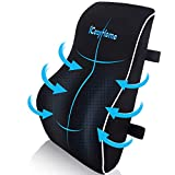 Lumbar Support Pillow for Chair, Lower Back Pillow, Memory Foam Lumbar Pillow, Orthopedic Back Cushion for Computer Chair, Gaming Chair, Office Chair, Car, Mesh Washable Cover