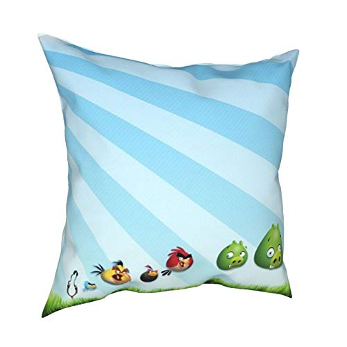 "Soft Throw Pillow Covers, Angry B-ird Pillowcase Suitable for Student Dormitory Children's Room Bedroom Living Room Office Bed Decoration 18""x18"""