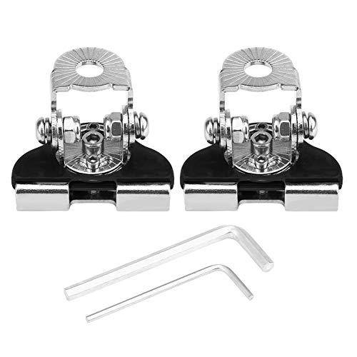 2 piezas Soporte universal de acero inoxidable para capota de automóvil Soporte de luz de trabajo LED Soporte de montaje de lámpara de trabajo todoterreno