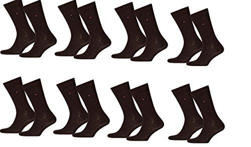 Tommy Hilfiger Herren Classic Casual Business Socken 8er Pack (43-46, kensington braun)