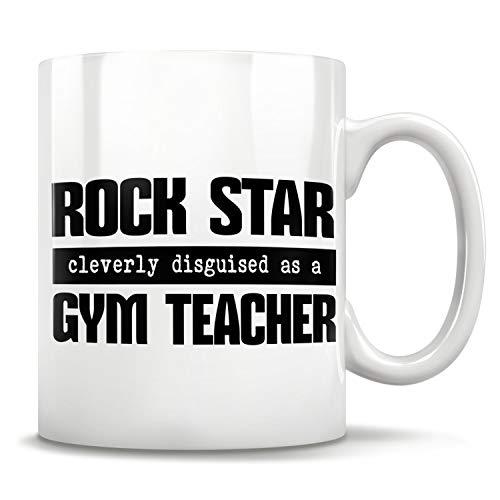 Lplpol - Taza para profesores de gimnasia, para hombres y mujeres, regalo para profesores, profesores de gimnasia, profesores de gimnasia, regalo para instructor de fitness, blanco, 15 OZ