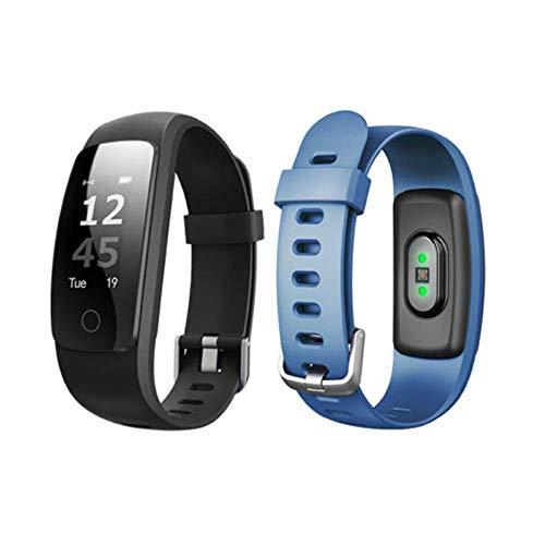 LWPCP Smart Watch ID107 Plus Pulsómetro Pulsera Monitor para Android iOS,Blue