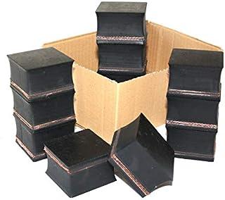 64x64x36mm (Karton mit 12 Stück) Gummi Auflage Unterlage Wagen Heber Hebebühne eckig Auto Set Unterstellbock Klotz Rangier Wagenheber Puffer Reifen Reifenwechsel LKW Räder KFZ Tuning Zubehör