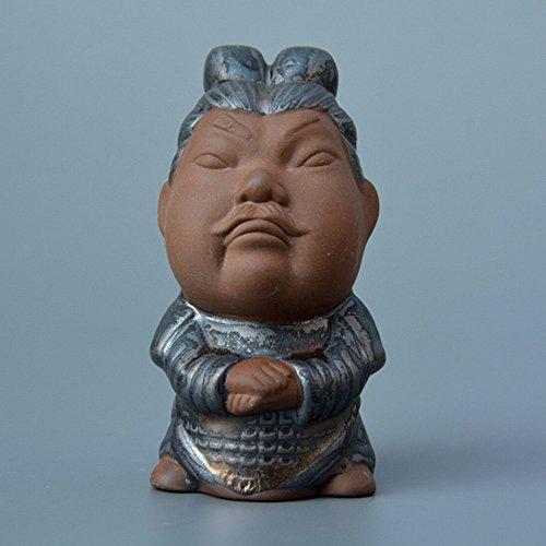 GUO Terrakotta Warriors Serie Tee Kamelie Tee Ornamente Tourismus Produkte Alte Charaktere Tea Play Ceramic Art Dekorationen,B,5.7 * 6.5 * 10.3CM