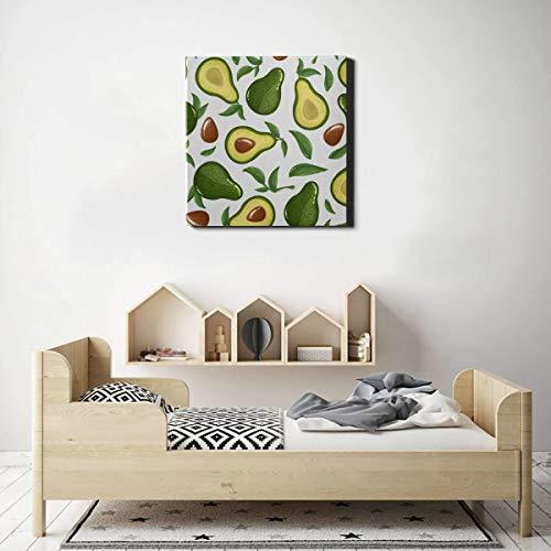 XiexHOME Einzigartiges Wandkunst-Dekor Interessante Avocado-frische Wandfarbe im Freien Leinwand-Wandkunst-Dekoration 50 x 50 cm (20 x 20 Zoll) Wandkunstbilder für Wohnzimmer-Schlafzimmer-Dekoration