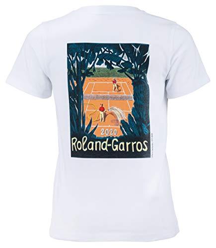 Roland Garros 2020 - Camiseta oficial para niño, Niñas, color blanco, tamaño 10 años