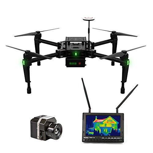 DJI Matrice 100 Profi Set mit extra Wärmebildkamera FLIR VUE 336 FPV Monitor und Gimbal