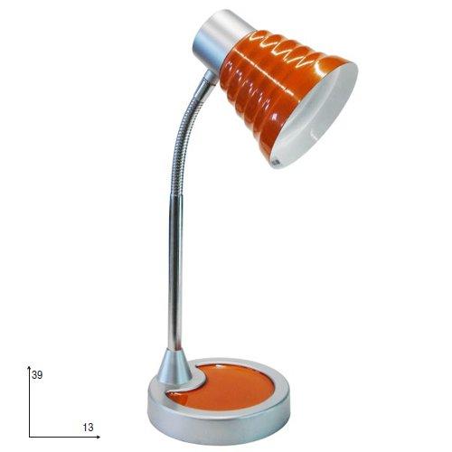 Fan Europe LDT055LEOL tafellamp, gestreept, glas, 40 W, oranje