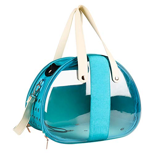 Pet Carrier, Pet Carrier Small, Pet Carrier Hard, Clear Cat Backpack Carrier, Backpack With Waterproof And Transparent Breathable Capsule Cover,Blue