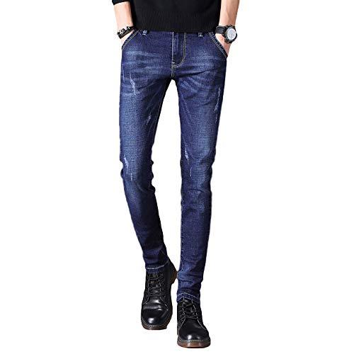 Jubaton Pantalones Vaqueros para Hombre Pantalones de Trabajo Casual de Ajuste clásico Liso, Pantalones Casuales Rectos elásticos versátiles de Primavera y otoño 28