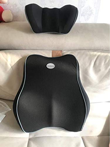 Ycviocar Backrests adapted for use in Vehicles/Back Cushion, Memory Foam Orthopedic Backrest for Car Seat, Office/Computer Chair and Wheelchair,Breathable & Ergonomic Design for Back Pain Relief