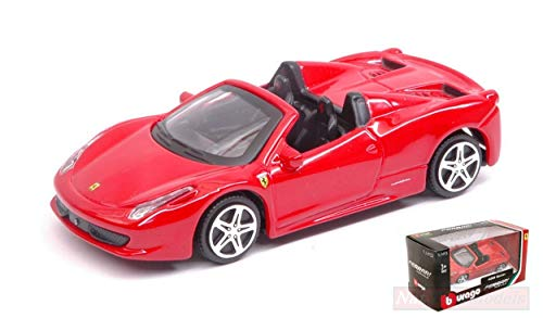 Burago Modelo A Escala Compatible con Ferrari 458 Spider Red 1:43 BU31134R