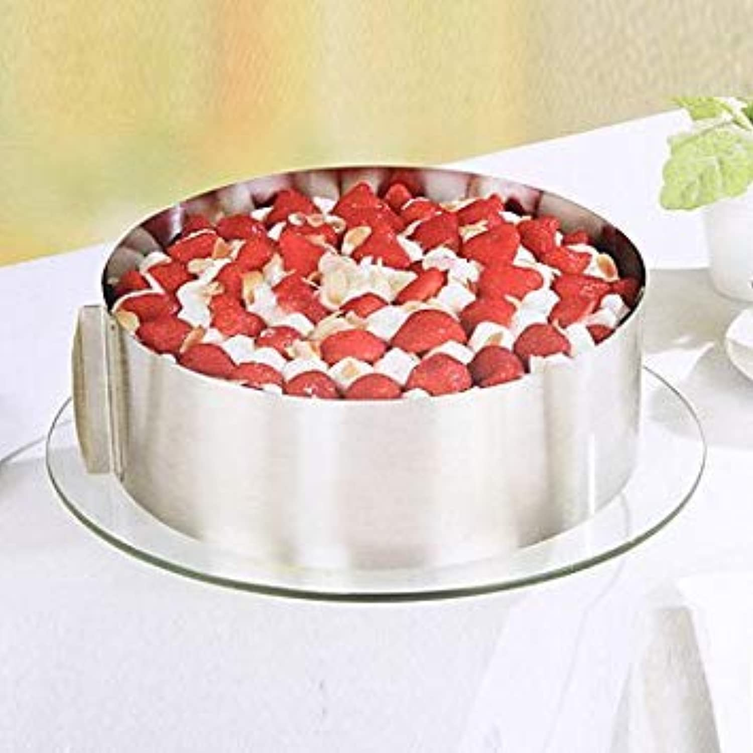 Stainless Steel Circle of Mousse Cake Every Circular Mould 6 Inch and 12 Inch Baking Tools Can Be Adjusted  04970821