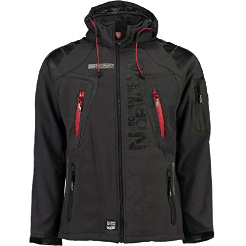 GEOGRAPHICAL NORWAY–giacca softshell giacca funzione resistente all' acqua, Grey - Dark grey, Small