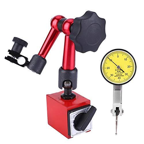Digitale meetklok, 0,001mm/0,00005 inch hoge resolutie meetklok, meetbereik 0~0,8 mm digitale medstoster voor laboratorium, werkplaats en 3D-printer, met magnetisch meetapparaat standvoet houder