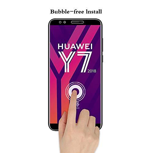 ANEWSIR Schutzfolie für Huawei Y7 2018/Y7 Prime 2018/Huawei Honor 7C, 9H Härte, Anti-Kratzen, Anti-Bläschen, Displayschutzfolie Folie Screen Protector [2 Stück] - 6