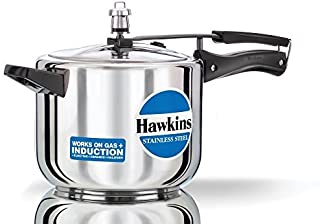 Hawkins Stainless Steel 5.0 Litre Pressure Cooker by Hawkins