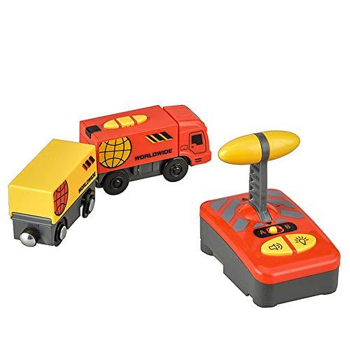 LICHENGTAI Juguete Educativo de Tren de Control Remoto Eléctrico para Niños, Tren de Locomotora de Acción con Batería, Coche de Juguetes para Niños Pequeños