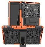 ZRH Accesorios De Pestañas para Huawei MediApad M5 Lite 8.0 JDN2-W09 JDN2-AL00, Cubierta De La Tableta De La Caja Negra Dura De Silicona para Huawei MediaPad M5 Lite 8 (Color : Orange)