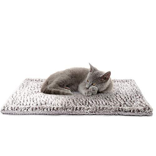 Cama para perros y gatos – Almohadillas térmicas para cachorros – Manta calmante para interiores y exteriores – Apto para animales domésticos, felpa, lavable, no eléctrico, silenciosa (70x40cm)