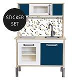Limmaland Sticker für IKEA DUKTIG (Blau) - Kinderküche Nicht inklusive