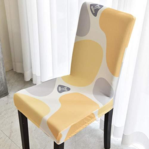 LLAAIT Jacquard Plain Dining Stuhlbezug Spandex Elastic Chair Schonbezug Fall Stretch Stuhlbezug für Hochzeit Hotel Bankett Stuhlbezug