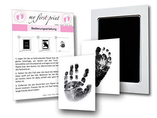 Baby Fussabdruck Set und Handabdruck Set von KARMAstyle I Sichere Anwendung des Baby Abdruckset durch Inkless-Touch-Print I Fußabdruck Baby und Handabdruck Baby Frei von Farbkontakt I