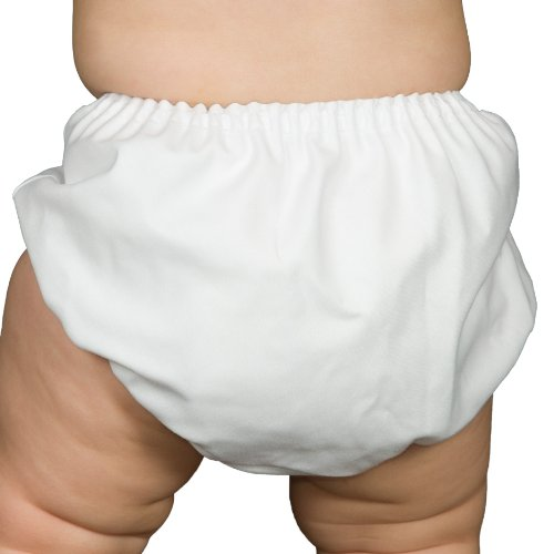 I.C. Collections Baby Boys White Batiste Diaper Cover Bloomers, Size L
