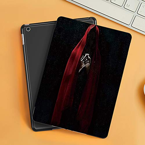 Case for iPad Air 10.2(2019/2018),Horror Ghost Red Dress Strange Mini Black,Cover with Auto Sleep Wake Feature, Slim Lightweight Stand Protective Case