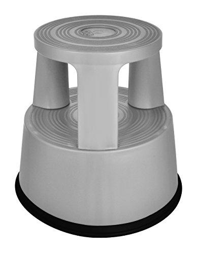 Desq 60060.08 Tritthocker bruchfester Kunststoff Frischer, Moderner Look grau