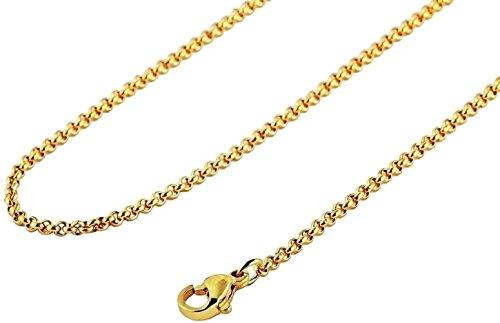 Heideman Halskette Damen Ankerkette 3mm aus Edelstahl gold farbend matt für Charms und Schmuck Länge 45cm