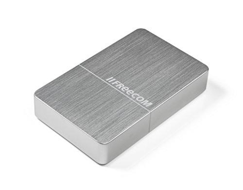 Freecom mHDD Desktop Drive I 4 TB I Silber I Externe Festplatte aus Metall I USB 3.0 I Festplatte extern I für Windows & Mac OS X I tragbare Festplatte I kratzfest & bruchsicher