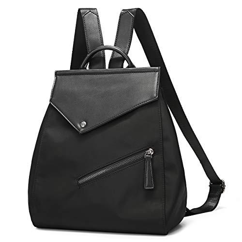 JOSEKO Rucksäcke Damen, Mode Rucksack Oxford Schultasche Damen Handtasche Leichter Daypack Diebstahlsichere Taschen Frauen Umhängetasche (Schwarz#03)