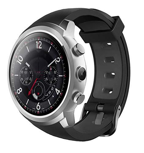 SKQC Reloj Inteligente, 512MB + 8GB Teléfono MTK6580 Cámara Android Monitor de frecuencia cardíaca Bluetooth 3G GPS Negro
