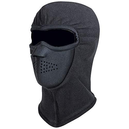 RefrigiWear Arctic Clava Warm Moisture Wicking Windproof Waterproof NeoFleece Combo Clava   Cold Weather Balaclava Face Mask (Black, Small/Medium)