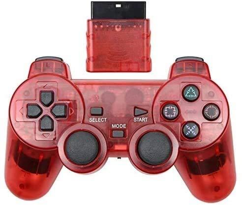 Dujie Mango Gamepad Moblie Juego Mando inalámbrico de PS3 Gamepad for Playstation3 Seis Ejes inalámbrico PS3 Palanca de Mando QPLNTCQ (Color: Azul Claro, Tamaño: 1) ( Color : Red , Size : 1 )