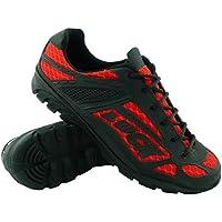 LUCK Zapatillas de Ciclismo Predator 18.0,con Suela de EVA Ideal para Poder adaptarte a Cualquier Terreno y disciplina Deportiva. (43 EU, Rojo)